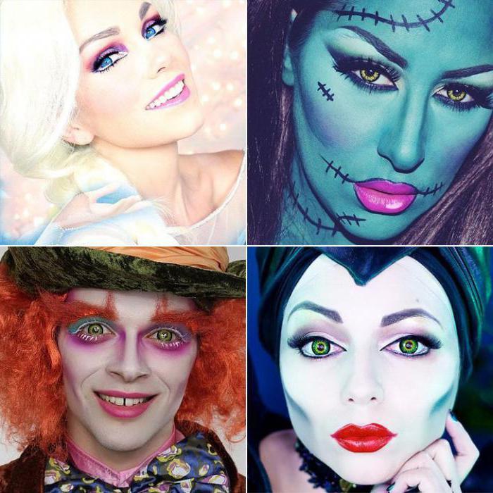 макияж на хэллоуин поп арт