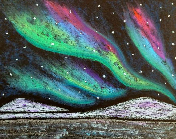 northern lights how to draw