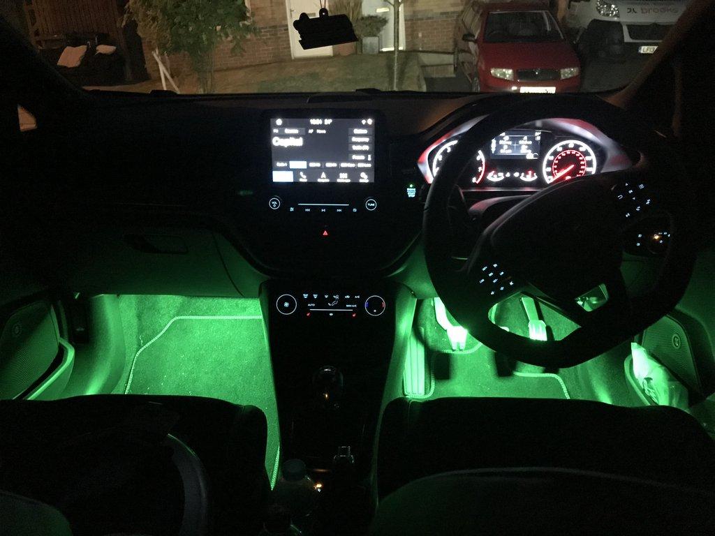 Подсветка для ног в авто своими руками