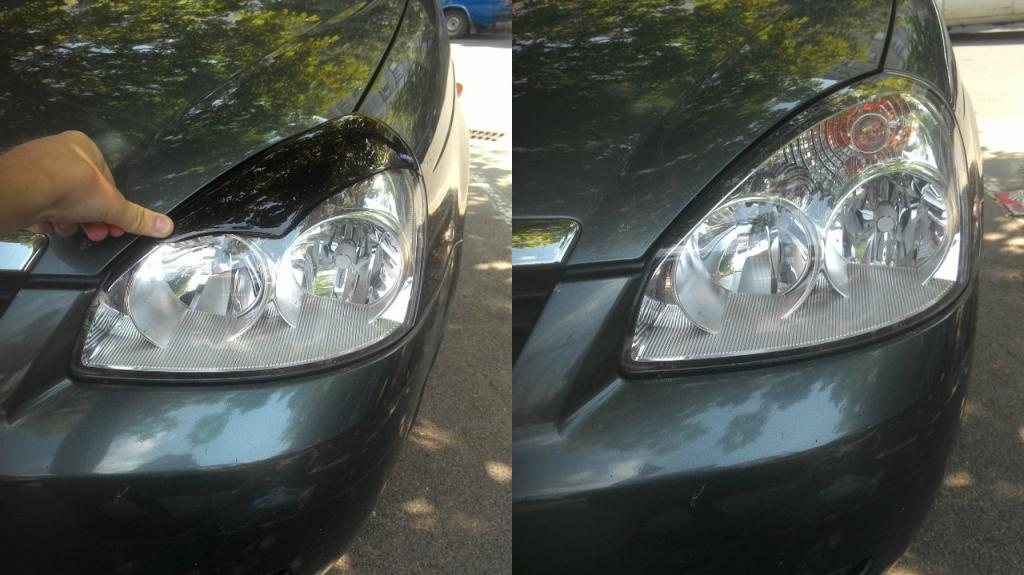 """Covers for headlights """"Lada Priora"""""""