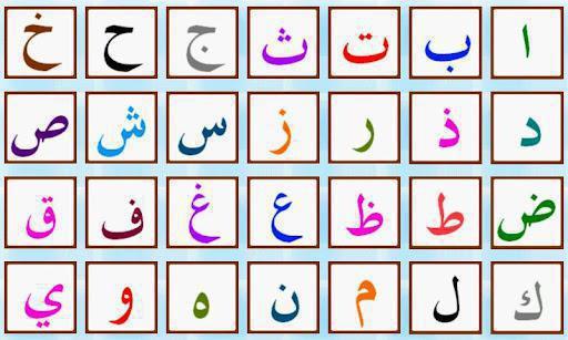 буквы арабского алфавита