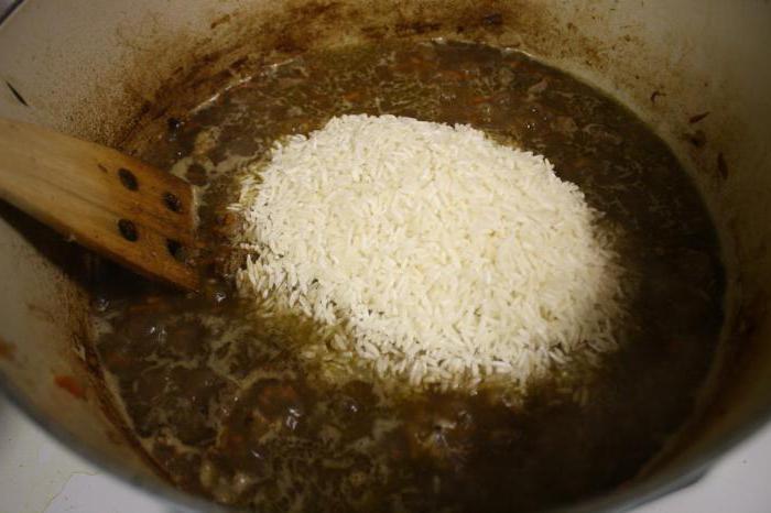 на стакан риса сколько воды для плова