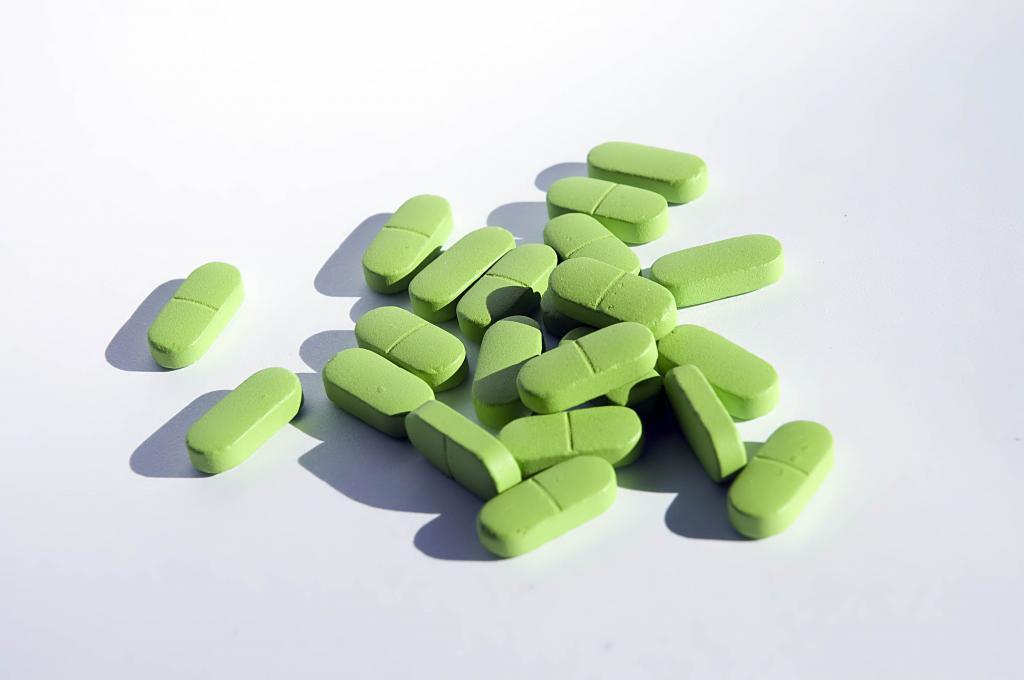 зеленые таблетки