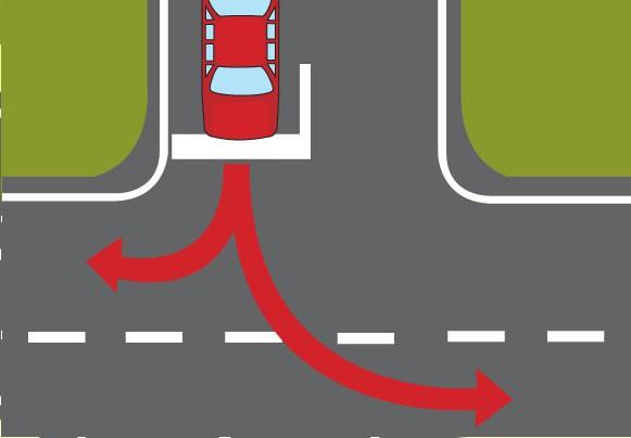 Правила проезда Т-образного перекрестка