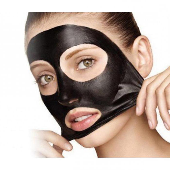 маска желатина угля от черных