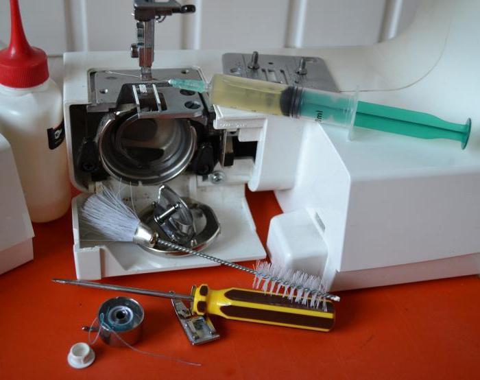 как смазать швейную машинку brother