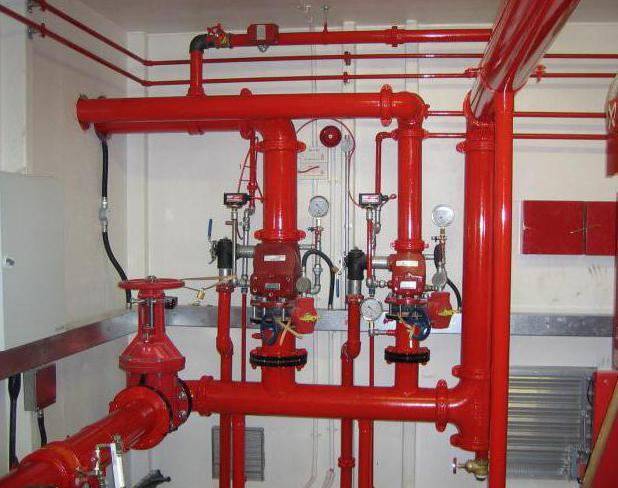 системы пожарной сигнализации и пожаротушения