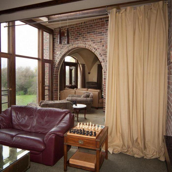 шторы для зонирования пространства в комнате