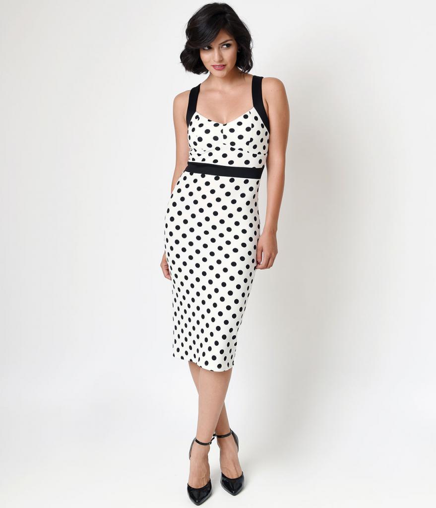 Retro style evening dress