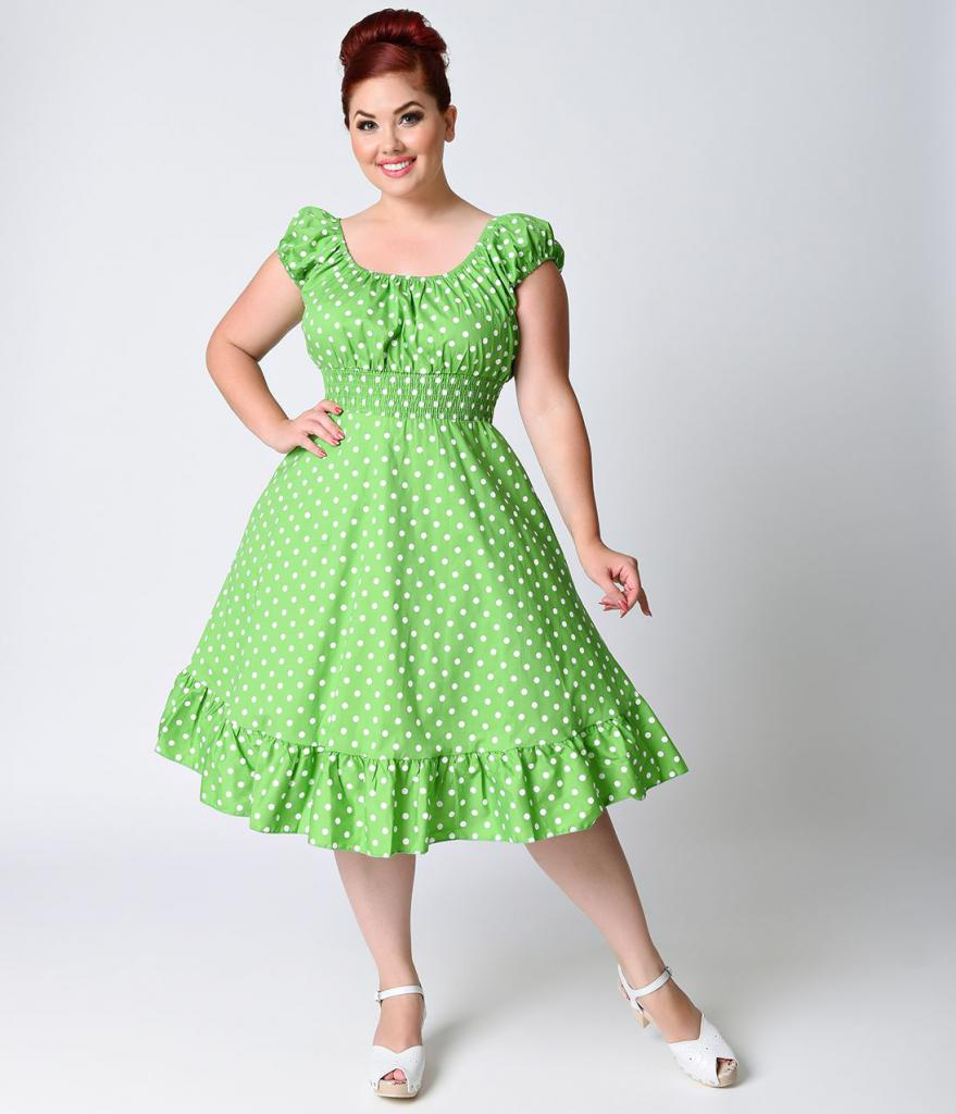 Retro style dress for overweight
