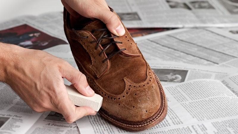 Как вывести пятна с обуви нубука фото