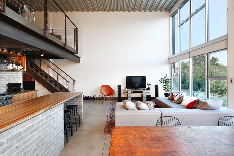loft style wall design