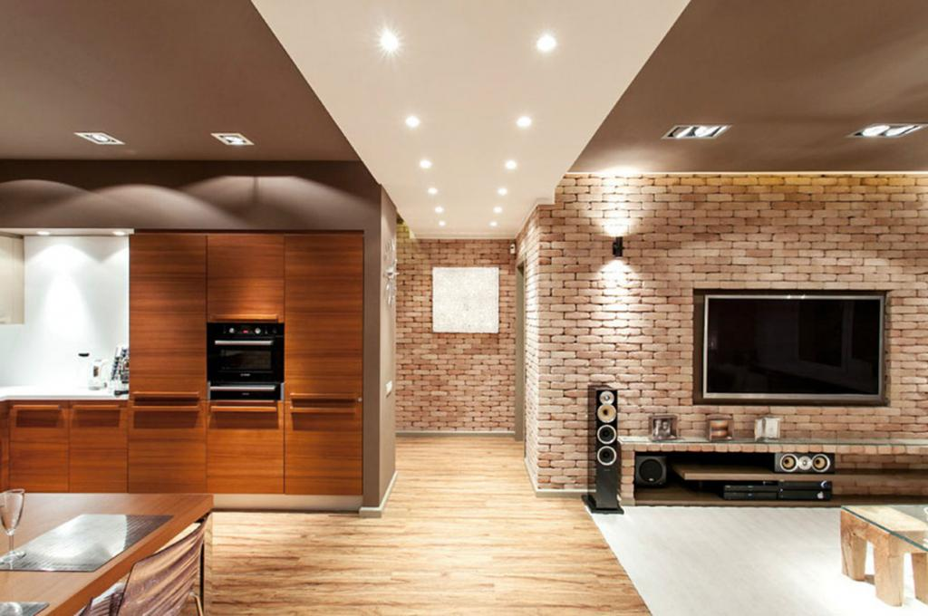 white walls in the loft style