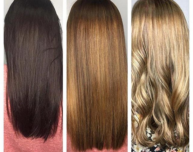 красим волосы сразу после осветления