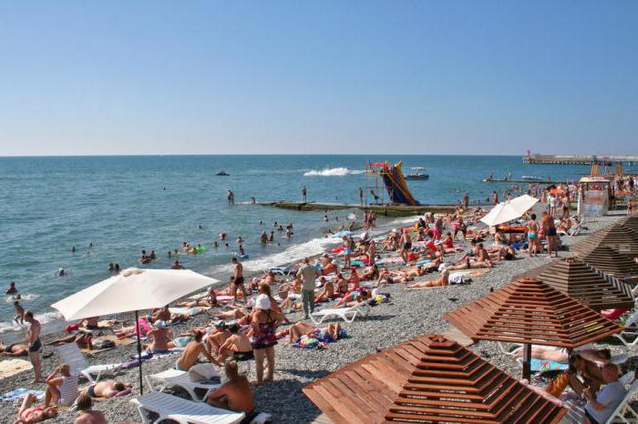 Адлер пляжа и города летом 63