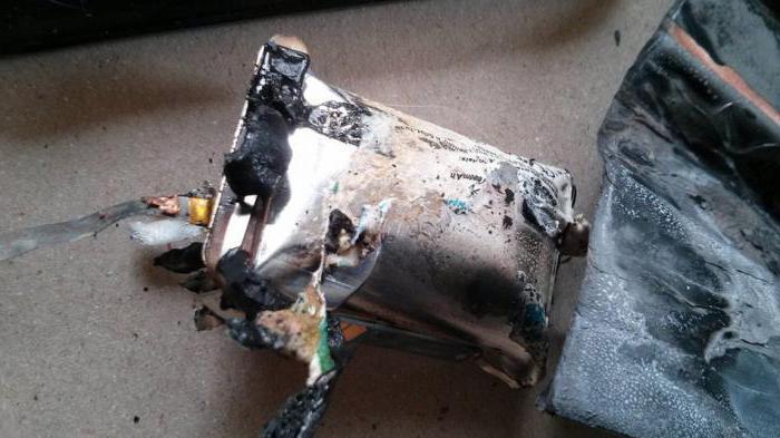 samsung взрыв аккумулятора
