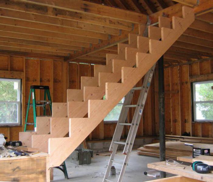 Мансарда делаем лестницу своими руками