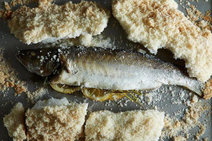 рыба в духовке рецепт на соли в духовке