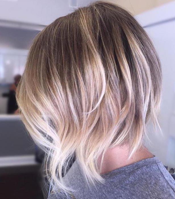 модное окрашивание волос на короткие волосы