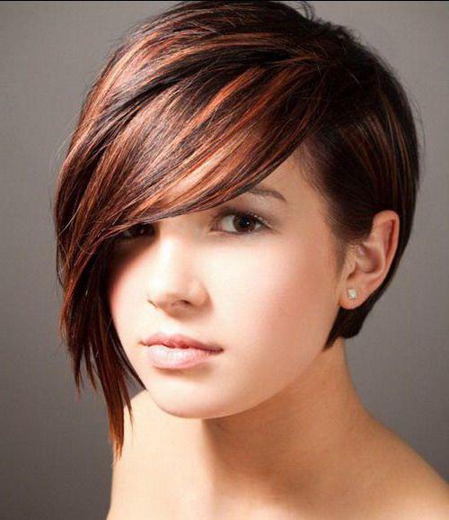 модное окрашивание брюнеток на короткие волосы