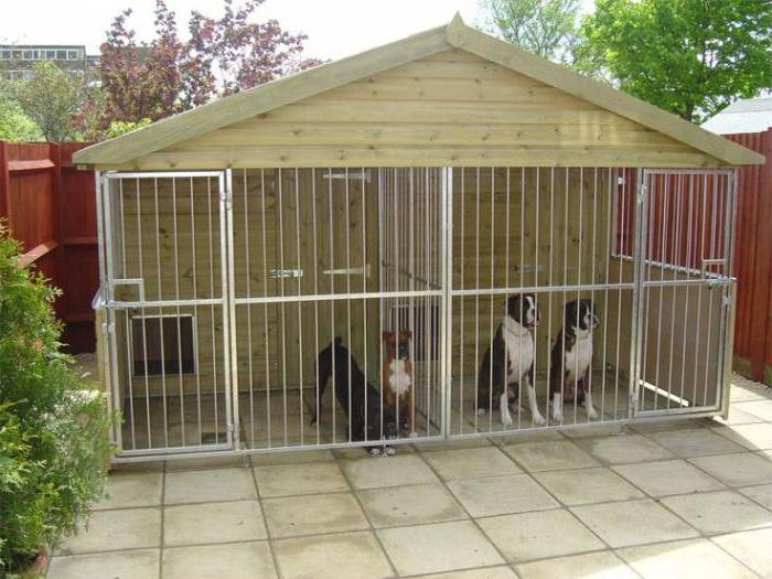 Чертежи вольеров для собак