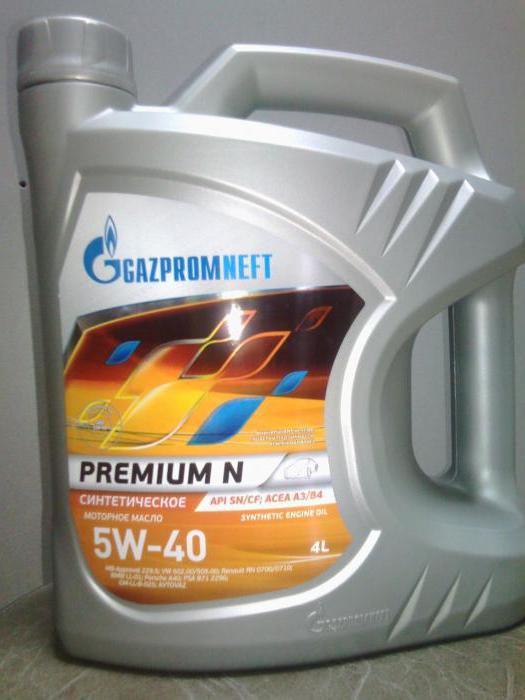 масло газпромнефть премиум 5w40 отзывы