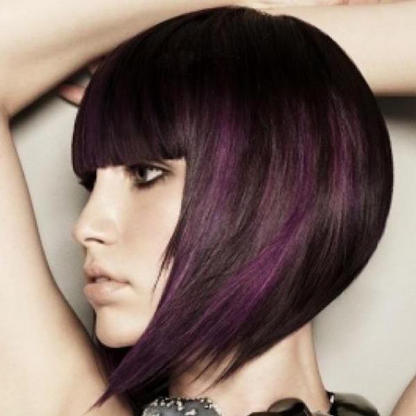 градуированное каре на длинные волосы
