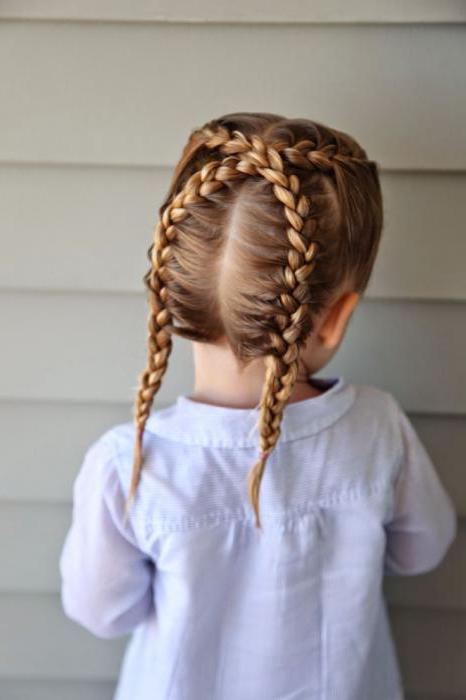 плетение кос в детский сад