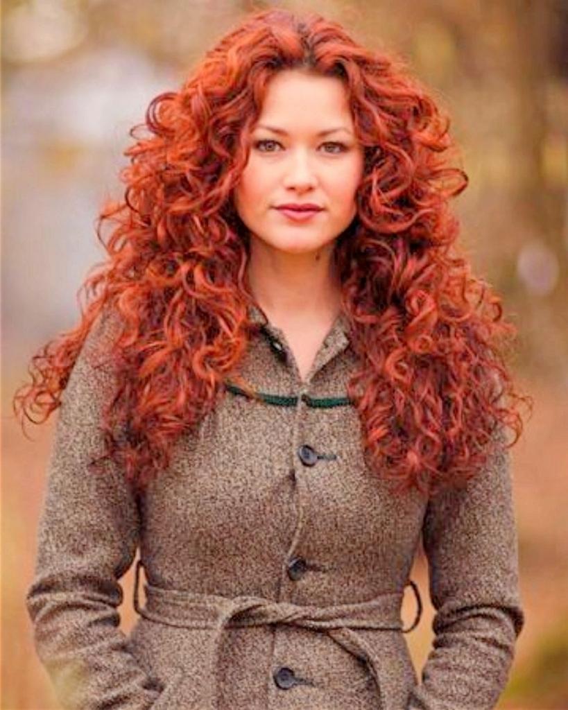 стрижка на кудрявые рыжие волосы