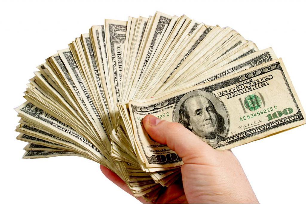 pack of dollar bills