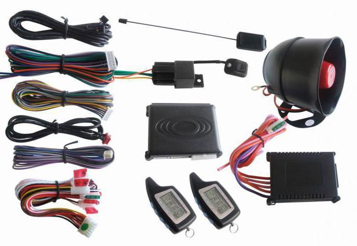 схема установки сигнализации на автомобиль
