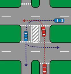 разворот налево на перекрестке со светофором