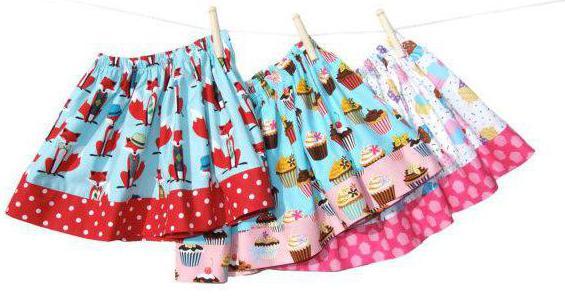 выкройка детской юбки