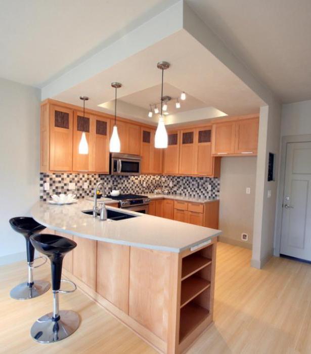 потолок из гипсокартона на кухне дизайн