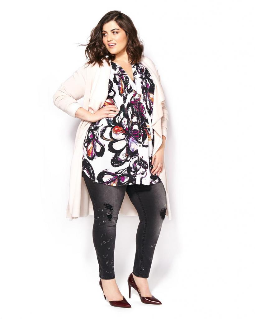 Блузки для полных женщин которые их стройнят выкройка фото 433