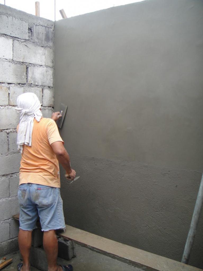 затирка цементной штукатурки