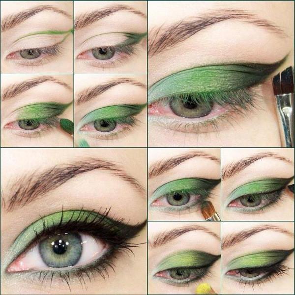 Как накрасить серо зеленые глаза красиво