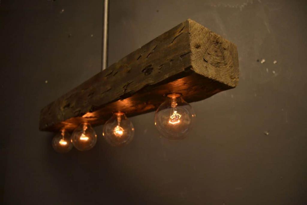 DIY wood chandeliers