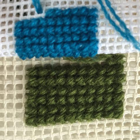 Вышивка крестом шерстяными нитками
