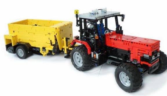 как сделать из лего трактор с прицепом