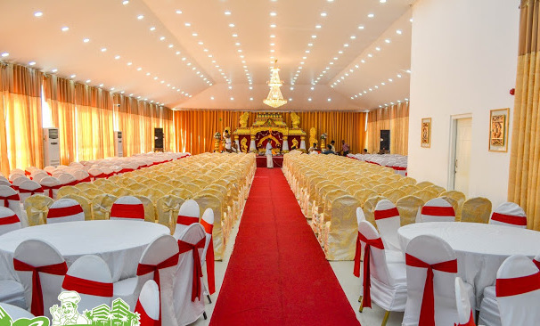 decoration of the hall for the anniversary of 55 years