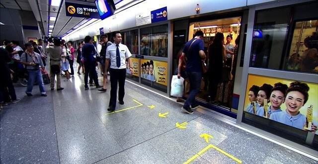 Схема метро Бангкока 2016