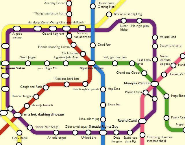 Схема метро Шанхая на русском языке