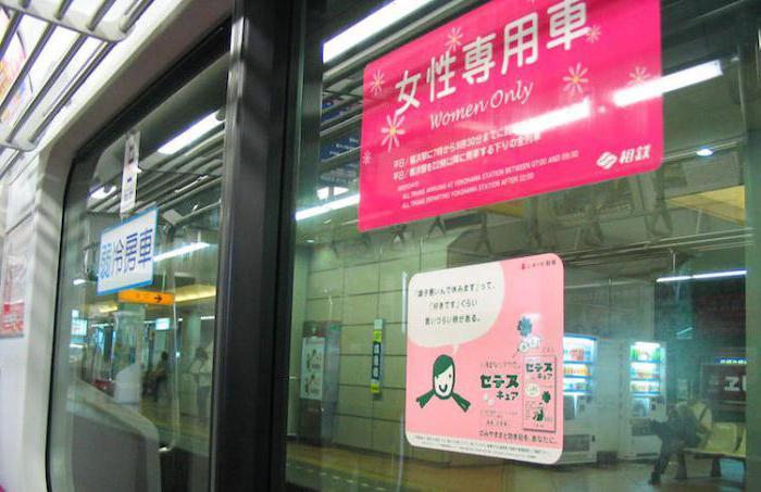 Японские школьницы в поезде