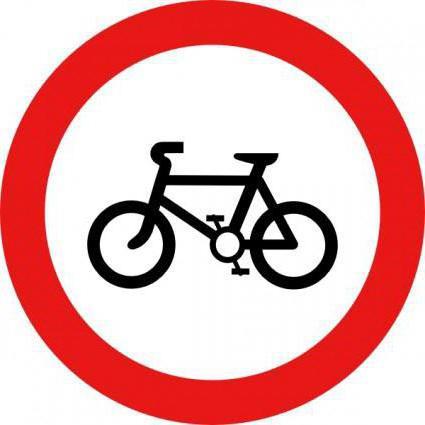 Дорожный знак движение на велосипедах запрещено