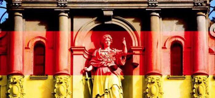 особенности судебной системы германии