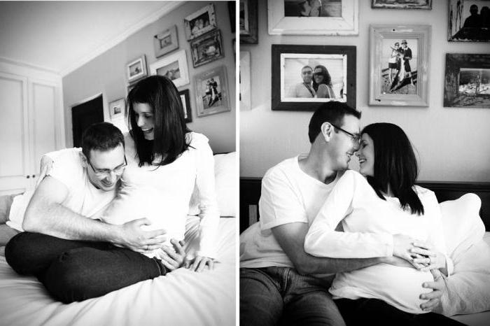 фотосессия беременных с мужем дома идеи