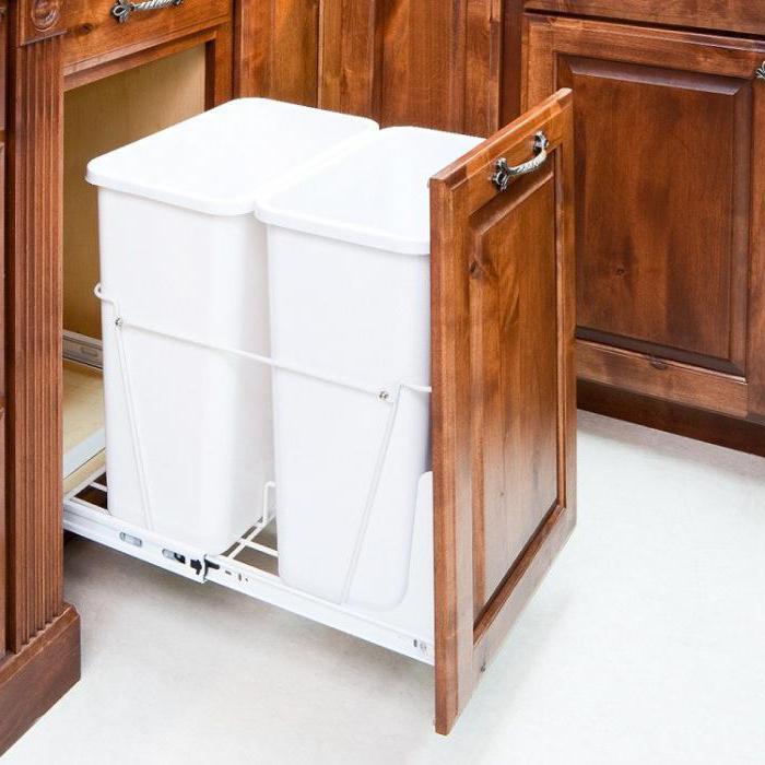 Desain Seperti Itu Dipasang Pada Rel Yang Dilekatkan Permukaan Dalam Kabinet Atau Ke Pintu Menarik Beberapa Model Wadah Sampah Dilengkapi