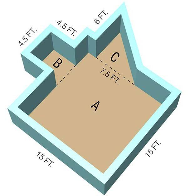 كيفية قياس مساحة غرفة في متر مربع