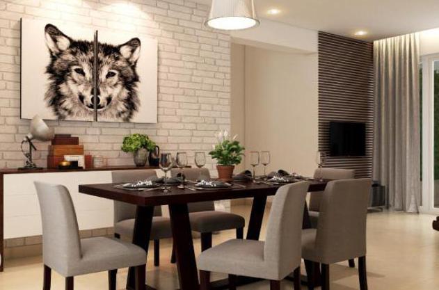 Белый декоративный кирпич на кухне